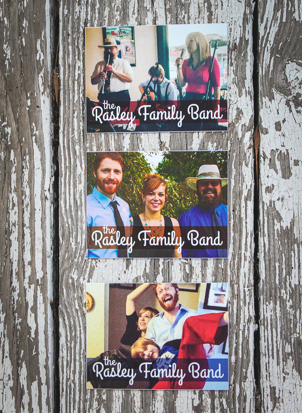 Rasley Family Band Sticker Designs