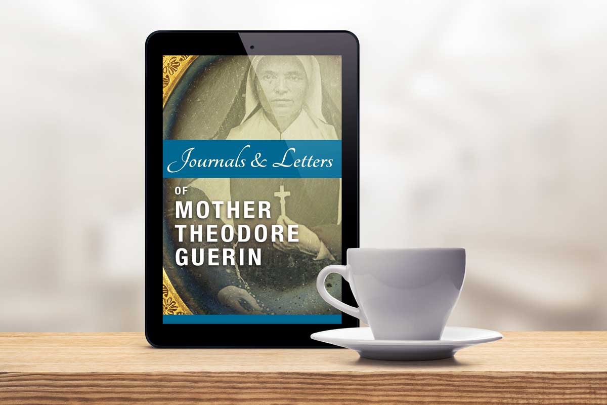 """Ebook cover design of the """"Journals & Letters of Mother Theodore Guerin"""""""