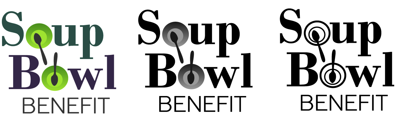 Three logo versions for the Soup Bowl.