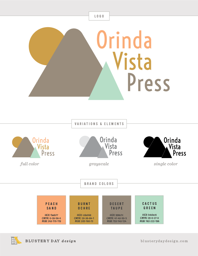 Orinda Vista Press brand identity.