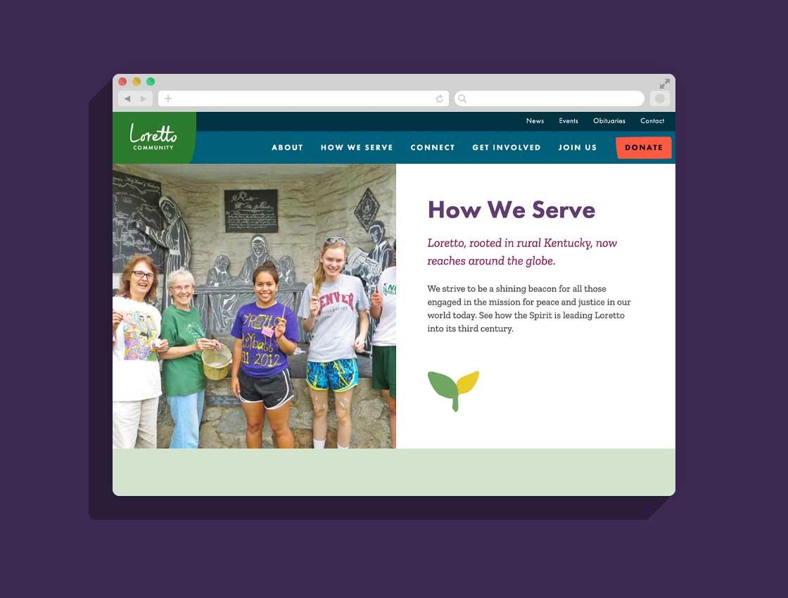 Screenshot from LorettoCommunity.org