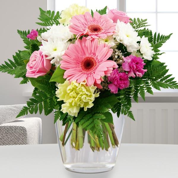 Blumenstrau Blumenfreude WeiRosa Blumenversand