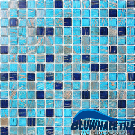 mosaic backsplash kitchen moen high arc faucet 豪华蓝色混合金线geo001kst 马赛克瓷砖 玻璃马赛克 中国玻璃马赛克 厨房 中国玻璃