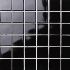 Mosaic Backsplash Kitchen Lowes Trash Cans 经典黑色光泽bck102 马赛克瓷砖 陶瓷马赛克 黑色瓷砖的墙 黑色马赛克后