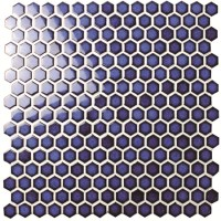 Hexagon Dark Blue BCZ606, Mosaic tile, Ceramic mosaic