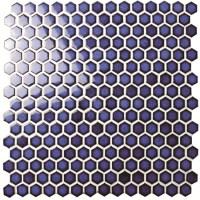 Hexagon Dark Blue BCZ606, Mosaic tile, Ceramic mosaic ...