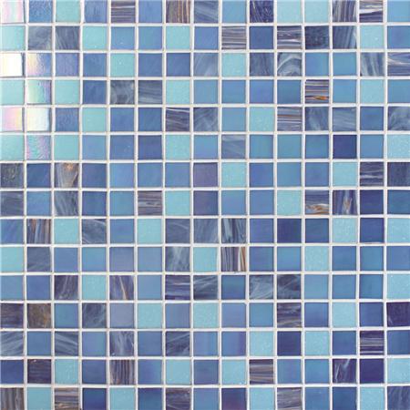 mosaic backsplash kitchen rustic furniture 豪华蓝色混合金线bge001 水池瓷砖 玻璃马赛克瓷砖 玻璃马赛克后挡板 蓝瓦 玻璃