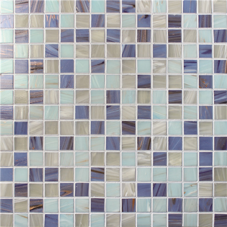mosaic backsplash kitchen trash can 豪华蓝色混合金线bge008 游泳池瓷砖 玻璃马赛克 玻璃马赛克瓷砖后挡板 蓝瓦