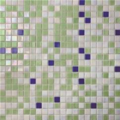 Kitchen Backsplashes Outdoor Kit 方形绿色蓝色混合bgc030 游泳池瓷砖 池马赛克 玻璃马赛克