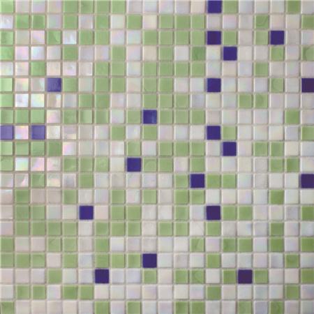 kitchen backspash cabinet hutch 方形绿色蓝色混合bgc030 游泳池瓷砖 池马赛克 玻璃马赛克