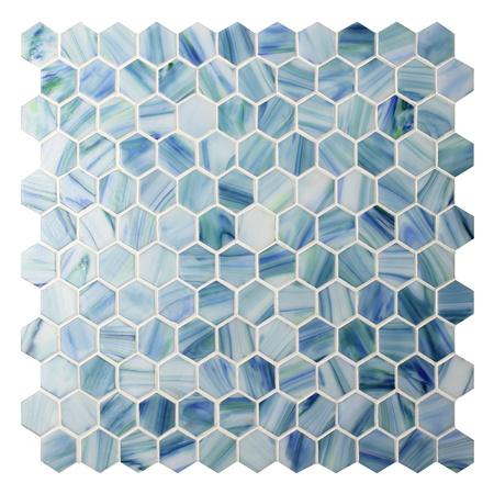 Hexgono azul BGZ022 azulejos de la piscina piscina