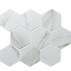 Mosaic Backsplash Kitchen White Decor 仿石bcz909 陶瓷马赛克 游泳池陶瓷马赛克瓷砖 瓷砖马赛克厨房后挡板 蓝瓦 瓷砖马赛克厨房后