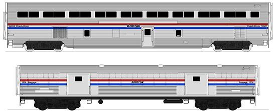 Kato Amtrak SuperLiner cars