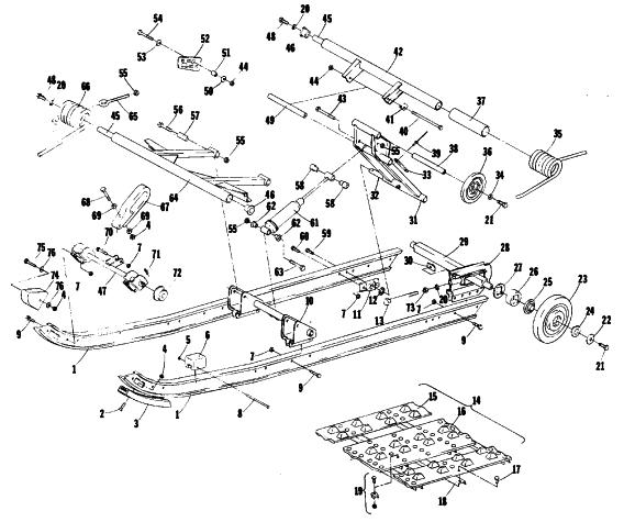 Arctic Cat Snowmobile Parts Diagram