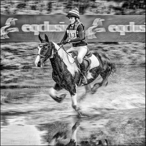 Angela Lewis through the Water Splash - Paul Way