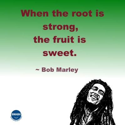 Bob Marley quotes-When the root is strong, the fruit is sweet