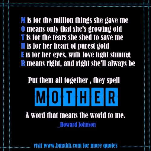beautiful quotes about mothers with pictures on www.bmabh -Mother- a word means the world to me