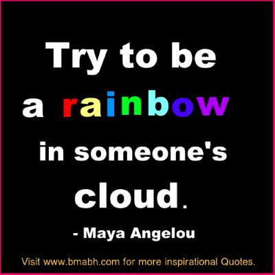 inspirational cloud quotes by Maya Angelou