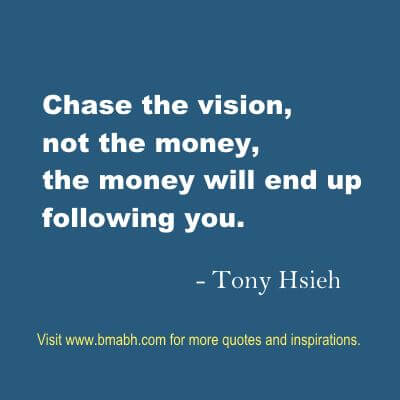 money quotes about chase the vision
