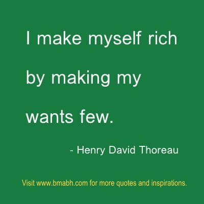 money quotes about making wants few