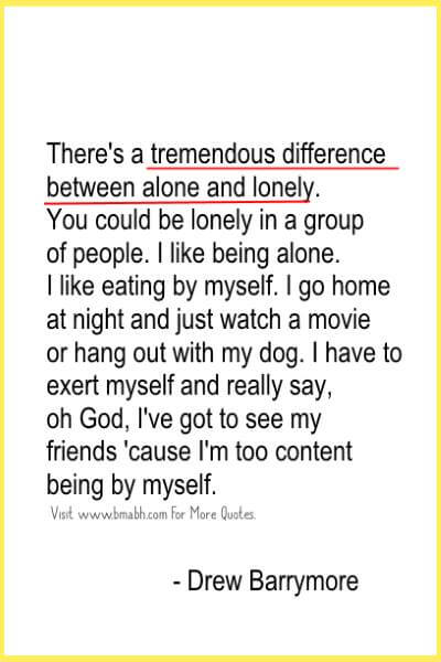 Inspiring Quotes About Being Alone Picture