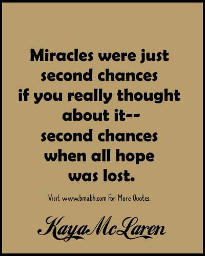 Second Chances Quotes - Quotes About Second Chances