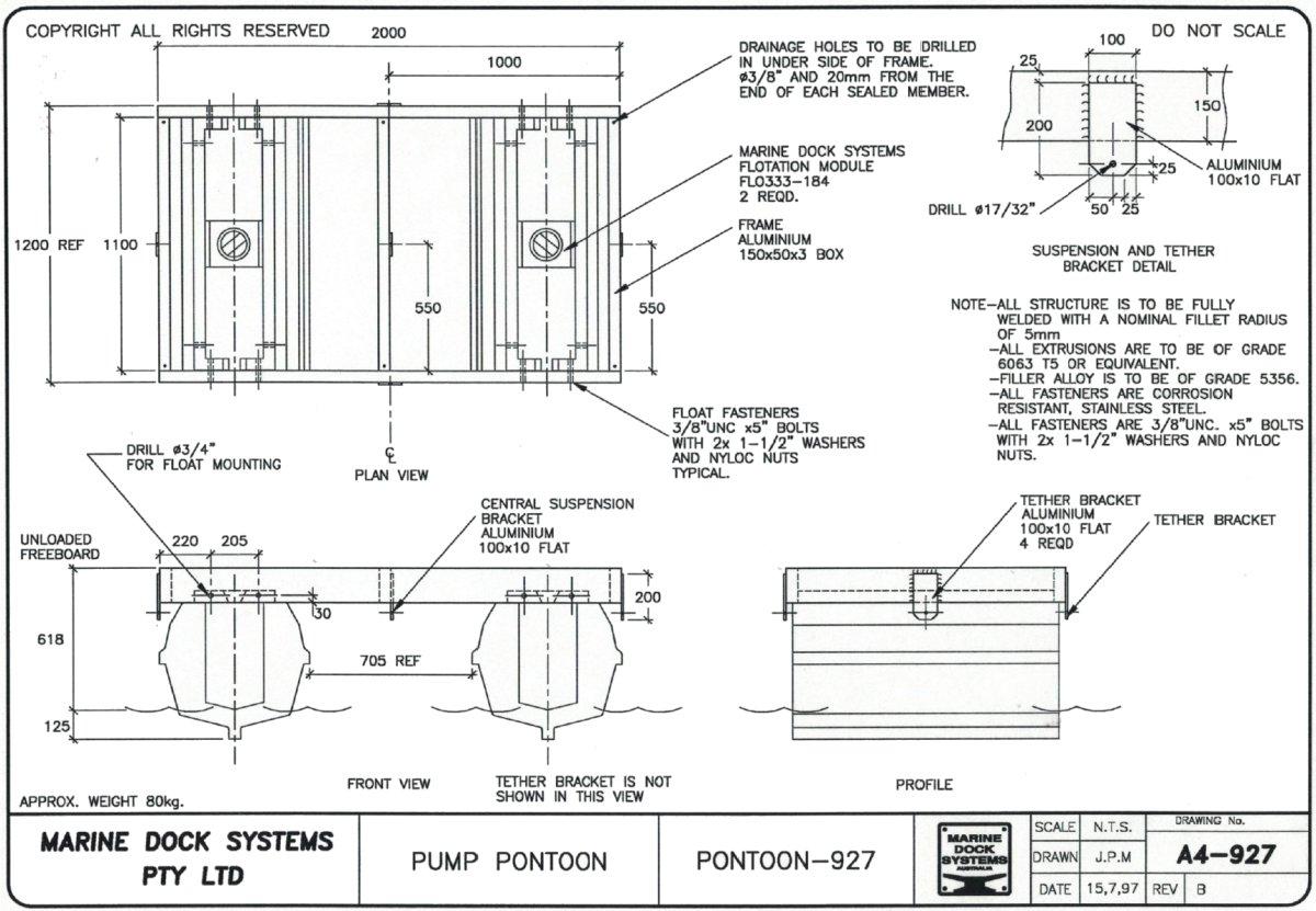 hight resolution of a4 0927 pump pontoon