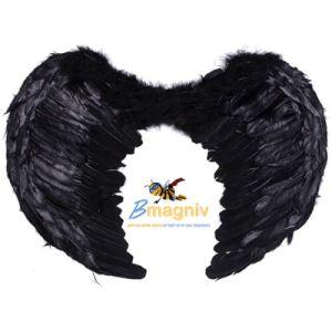 כנפי מלאך נוצות שחורות