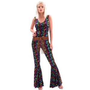 מכנס היפית פייס צבעוני : מכנס היפית סנטרופז