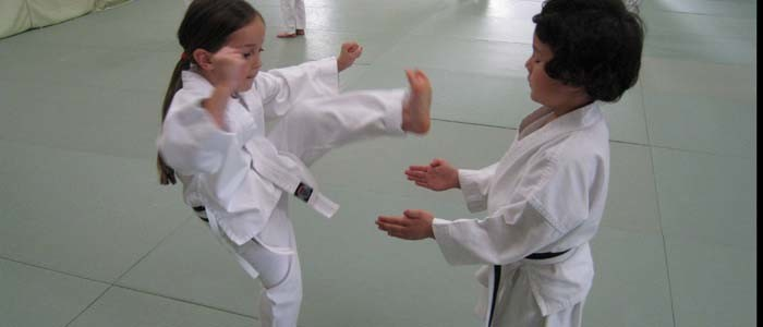 kinder karate kick