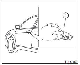 Nissan Micra: Activación del seguro de las puertas