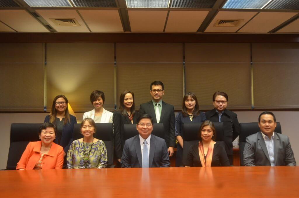 In photo: (from left to right, seated) BMAP Auditor Belen C. Lim (Security Bank), BSP Director for Corporate Affairs Fe M. Dela Cruz; BSP Gov. Amando M. Tetangco Jr.; BMAP Newly Elected President Mary Ann R. Ducanes (China Bank); and BMAP Treasurer Emmanuel Mari K. Valdes (RCBC).