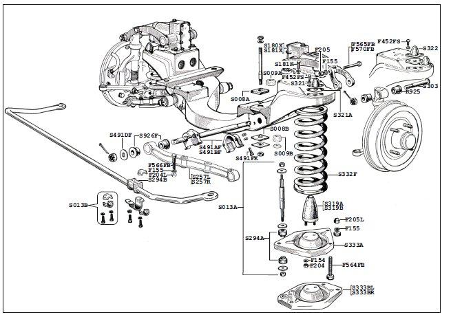 BMC Farina Front Axle