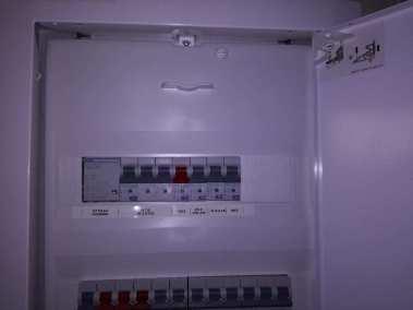 Elektrická inštalácia rozvodovej skrine po dokončení