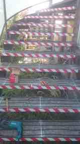 Ohrev schodov - montáž vyhrievacích vodičov