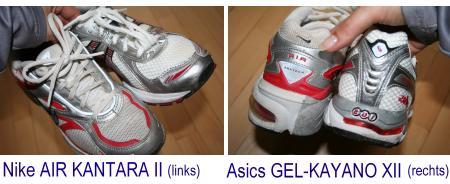 Nike und Asics