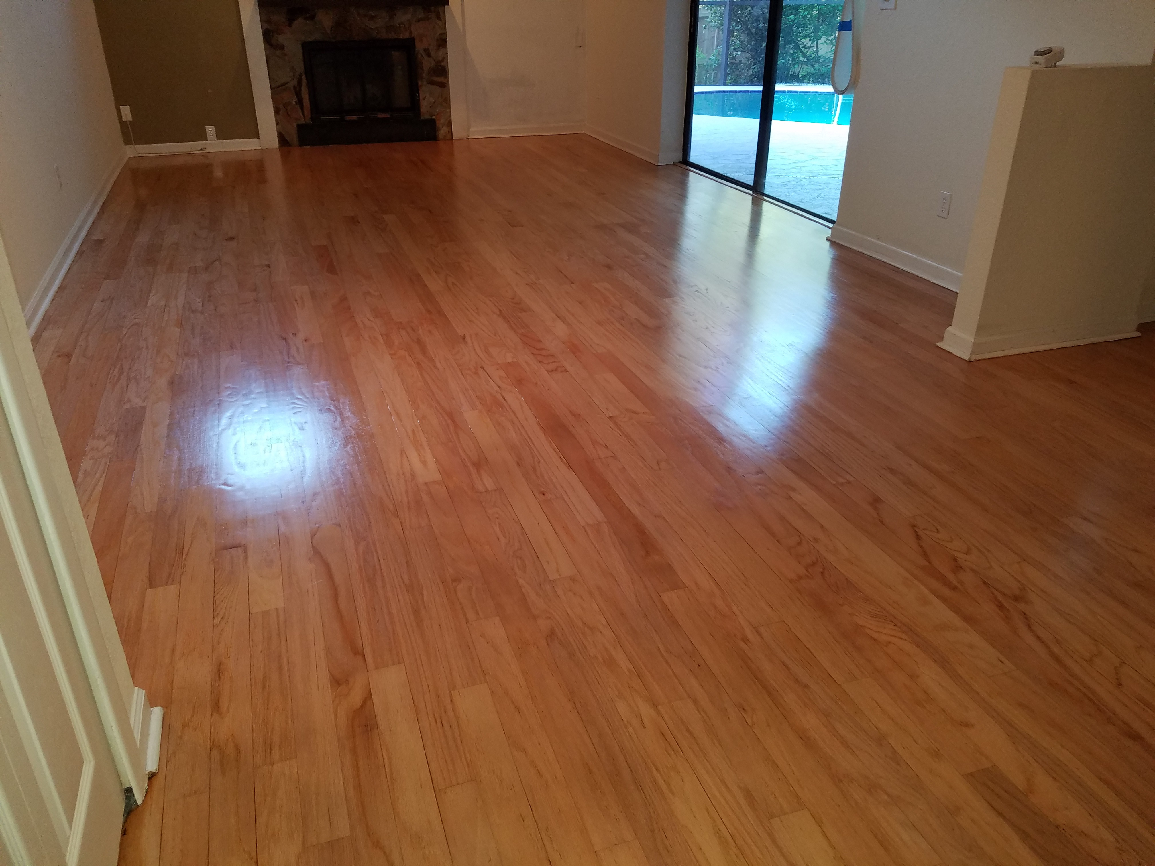 Georges Newly Refinished Floor  BM Hardwood Floors