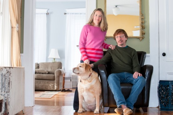 Charmaine and Doug Vinton and their dog Butters
