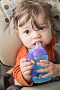 Baby With Sippy Bottle