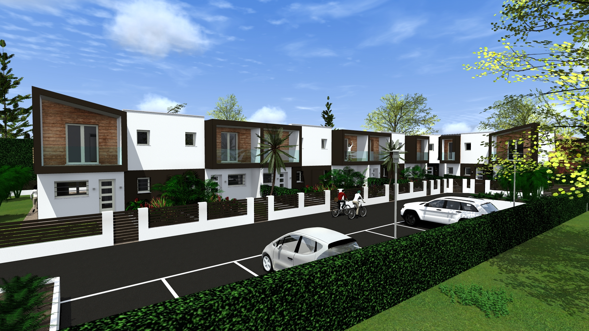 Progetto di case a schiera in stile moderno bettio marta for Progetti case moderne piccole