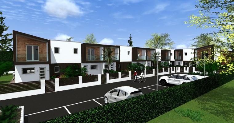 Progetto di case a schiera in stile moderno