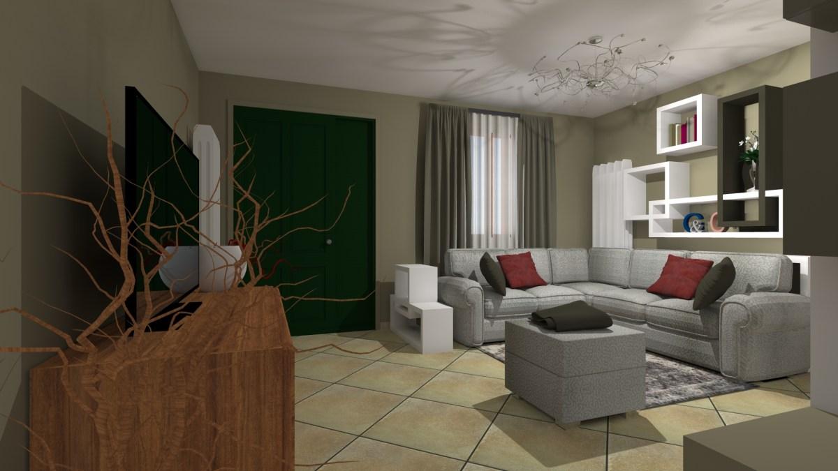 Restyling low cost di un soggiorno contemporaneo