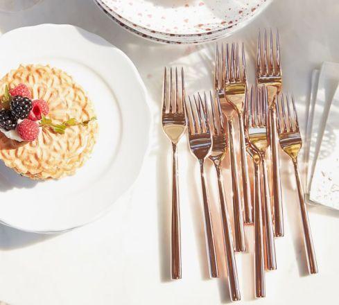Oro, oro rosa e nero: i nuovi colori delle posate