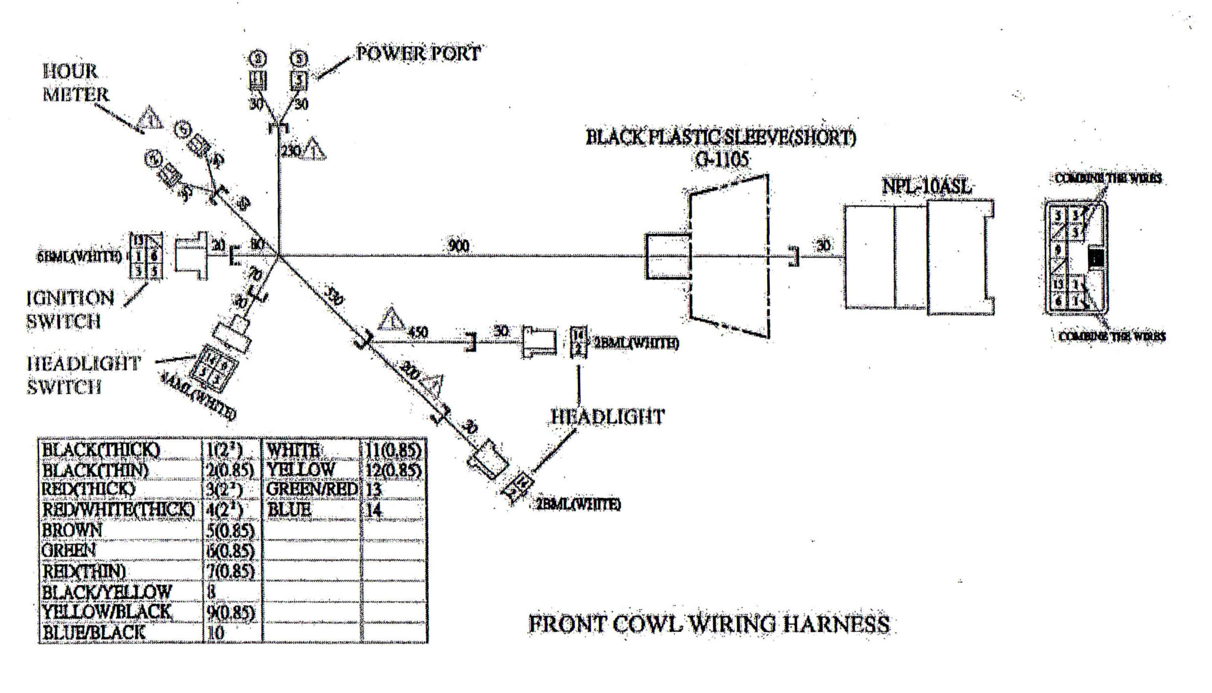Golf Cart Turn Signal Switch Wiring Diagram Main Wire Cowl For Yerf Dog Cuvs 5137 Bmi Karts And
