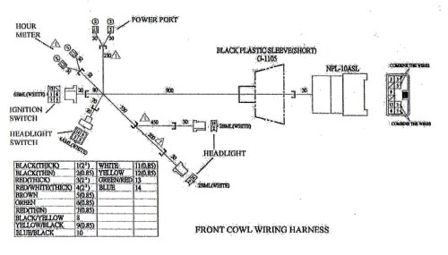 small resolution of wiring diagram for the front cowl to the yerf dog cuv