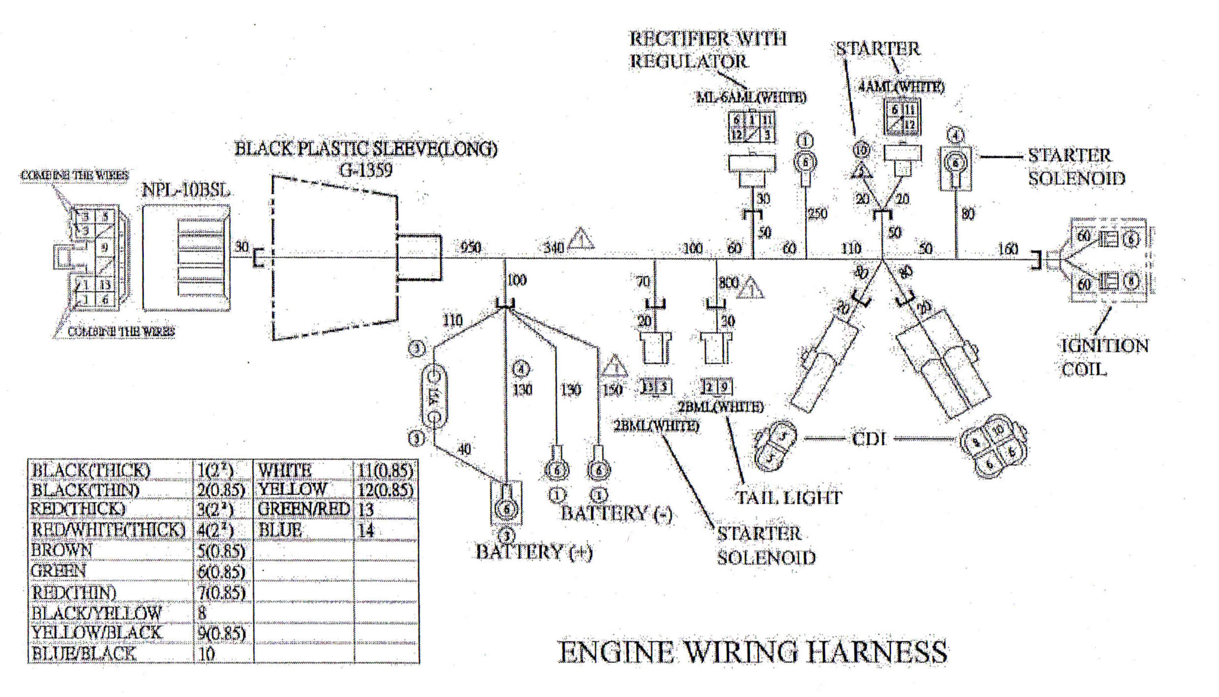 yamaha c3 wiring diagram network and critical path engine harness for yerf dog cuvs 05138 bmi