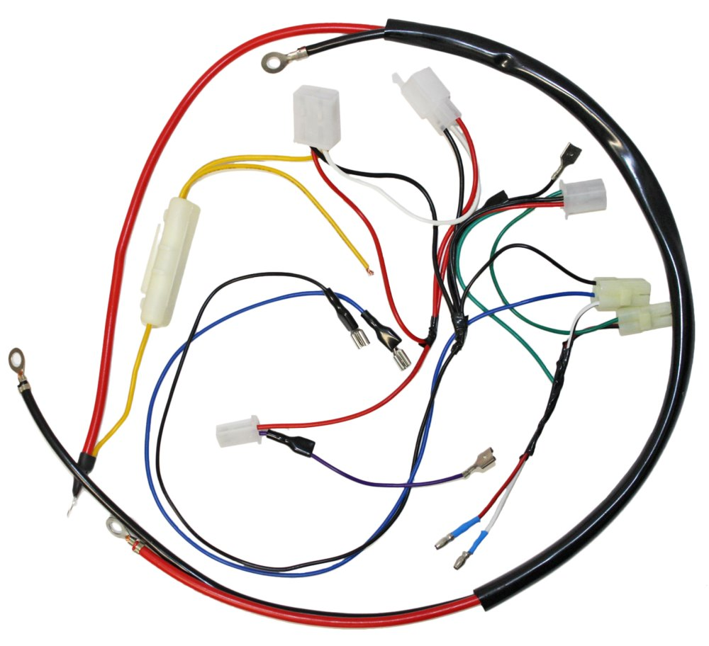 medium resolution of engine wiring harness for gy6 150cc engine 05711a bmi karts and gy6 150 wiring harness