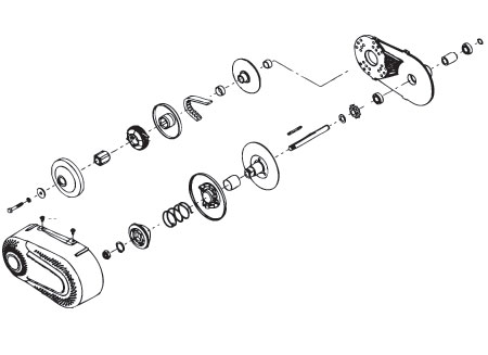 Torque Converter for #41 Chain, 3/4