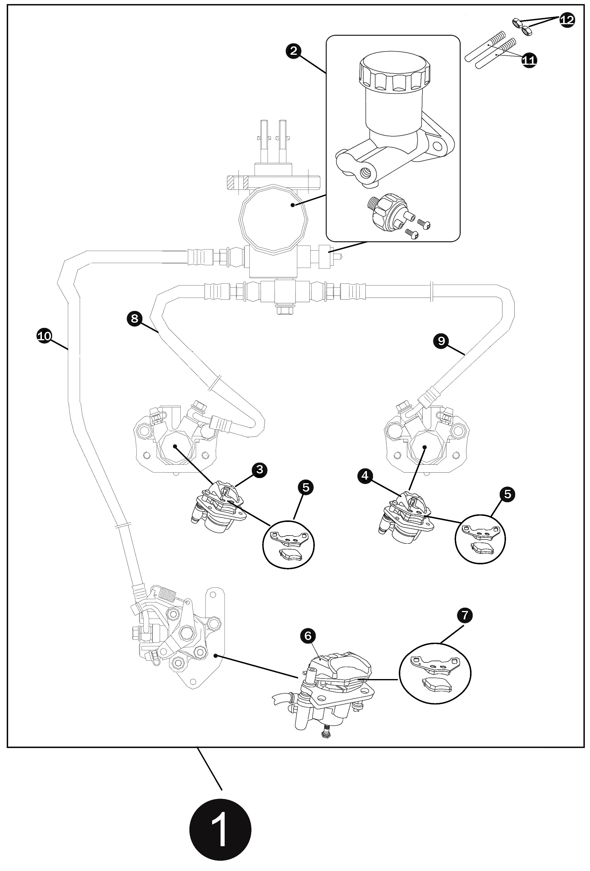 Brake Caliper Parts Diagram