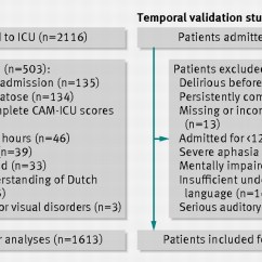 Sofa Score Calculator Excel Covers For Leather Online Development And Validation Of Pre Deliric Prediction Delirium In Fig 1 Flow Chart Temporal Study